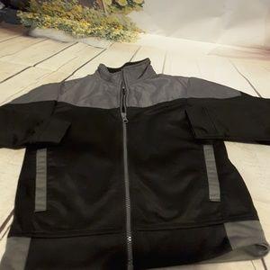 3/$15 Starter black grey jacket zip front defect
